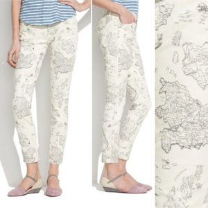 Madewell Map Print Ankle Jeans Women's 27